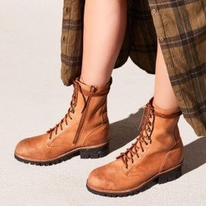 Free People x Jeffrey Campbell Combat Boots